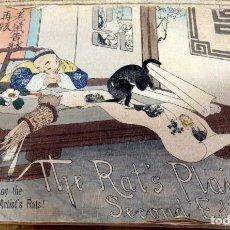 Libros antiguos: THE RAT'S PLAINT, (LA QUEJA DE LA RATA), 1894,T. HASEGAWA, EN PAPEL CREPE O SEDA, RARISIMO, UNA JOY. Lote 170060748