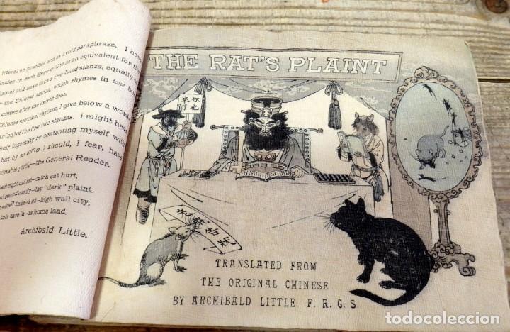Libros antiguos: THE RATS PLAINT, (LA QUEJA DE LA RATA), 1894,T. HASEGAWA, EN PAPEL CREPE O SEDA, RARISIMO, UNA JOY - Foto 3 - 170060748