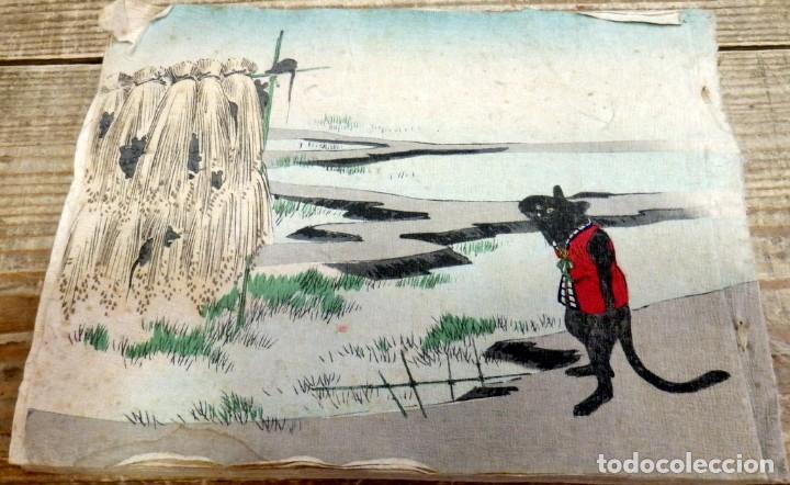 Libros antiguos: THE RATS PLAINT, (LA QUEJA DE LA RATA), 1894,T. HASEGAWA, EN PAPEL CREPE O SEDA, RARISIMO, UNA JOY - Foto 7 - 170060748