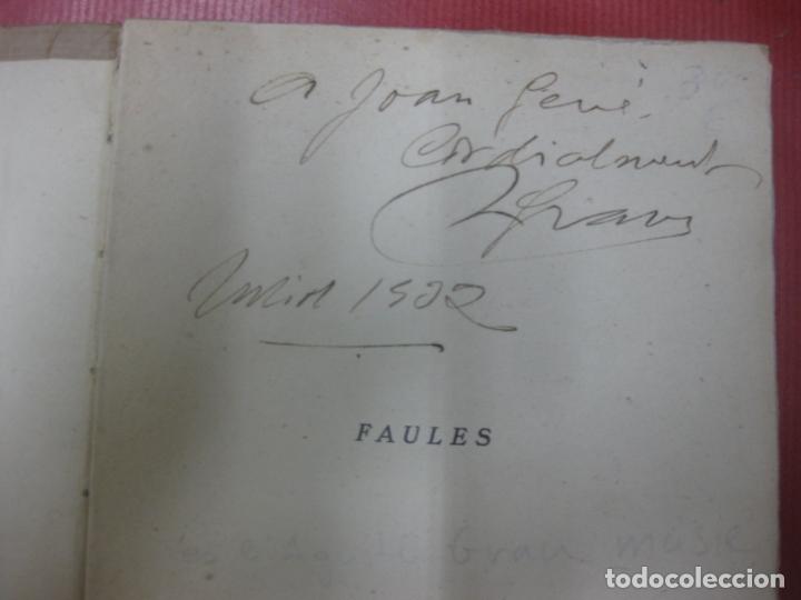 Libros antiguos: AGUSTI GRAU. FAULES. LLIBRERIA CATALONIA 1930. DEDICATORIA AUTOGRAFA DE L'AUTOR. - Foto 2 - 170590480