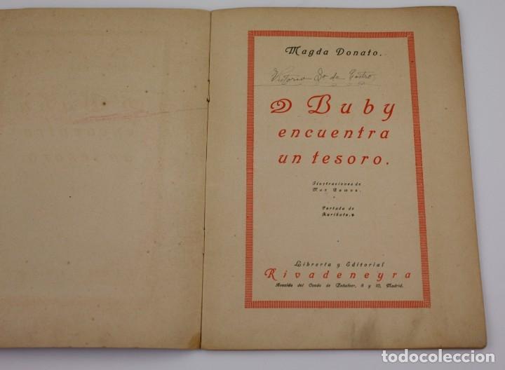 Libros antiguos: Buby encuentra un tesoro, Magda Donato, ilustraciones Max Ramos, editorial Rivadeneyra, Madrid. - Foto 2 - 171010954