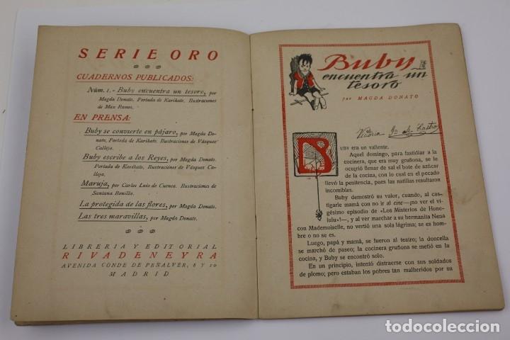Libros antiguos: Buby encuentra un tesoro, Magda Donato, ilustraciones Max Ramos, editorial Rivadeneyra, Madrid. - Foto 3 - 171010954