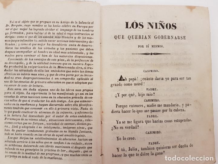 Libros antiguos: EL AMIGO DE LA INFANCIA, CUENTOS BERQUIN, EDICIÓN BARCELONA 1843 - Foto 2 - 171099083
