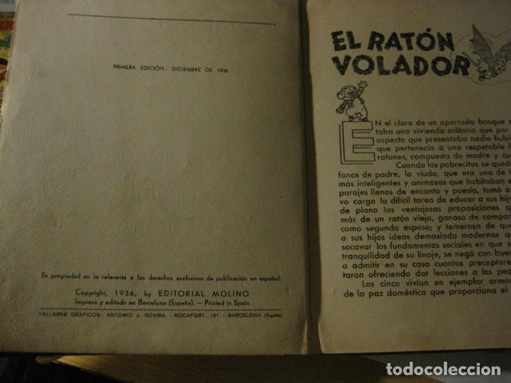 Libros antiguos: cuento el raton volador. ed molino 1936 1 era edicion - Foto 8 - 171169643