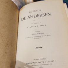 Libros antiguos: CUENTOS DE ANDERSEN. Lote 171321238