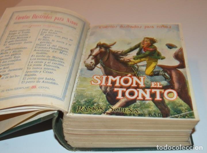 Libros antiguos: RAMON SOPENA - 29 CUENTOS ILUSTRADOS PARA NIÑOS - ENCUADERNADOS EN UN TOMO - IMPECABLES - Foto 3 - 172799969