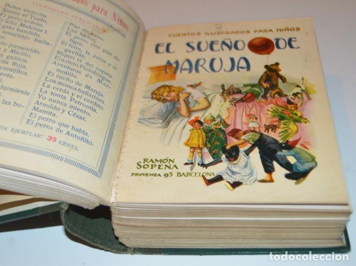 Libros antiguos: RAMON SOPENA - 29 CUENTOS ILUSTRADOS PARA NIÑOS - ENCUADERNADOS EN UN TOMO - IMPECABLES - Foto 10 - 172799969