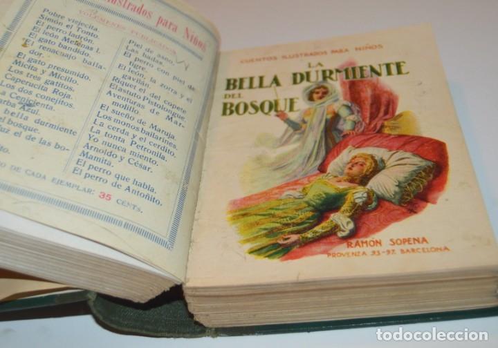 Libros antiguos: RAMON SOPENA - 29 CUENTOS ILUSTRADOS PARA NIÑOS - ENCUADERNADOS EN UN TOMO - IMPECABLES - Foto 22 - 172799969