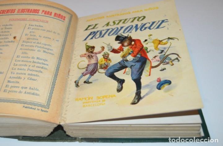 Libros antiguos: RAMON SOPENA - 29 CUENTOS ILUSTRADOS PARA NIÑOS - ENCUADERNADOS EN UN TOMO - IMPECABLES - Foto 27 - 172799969