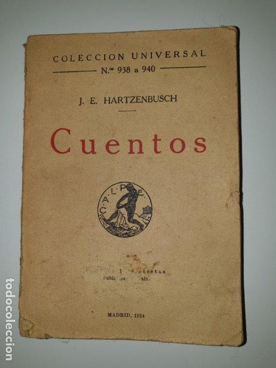 CUENTOS J.E. HARTZENBUSCH COLECCIÓN UNIVERSAL N.º938 A 940 (Libros Antiguos, Raros y Curiosos - Literatura Infantil y Juvenil - Cuentos)