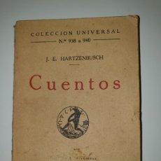 Libros antiguos: CUENTOS J.E. HARTZENBUSCH COLECCIÓN UNIVERSAL N.º938 A 940. Lote 172933178