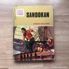 Libros antiguos: SANDOKAN. EMILIO SALGARI. COLECCION HISTORIAS COLOR. BRUGUERA.. Lote 174270764