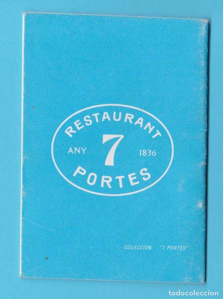 Libros antiguos: JOYAS Y PIEDRAS. COLECCIÓN 7 PORTES. RESTAURANT 7 PORTES, BARCELONA 1980 - Foto 2 - 174571740