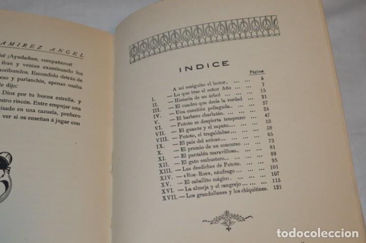 Libros antiguos: CUENTOS de POTOTO - Emiliano Ramírez, Ángel - Ilustraciones F. López Rubio - Años 30 - ¡Buen estado! - Foto 7 - 174981610