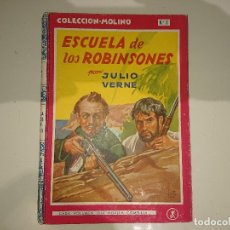 Libros antiguos: ANTIGUO LIBRO ESCUELA DE LOS ROBINSONES Nº2 1948 - JULIO VERNE , COLECCION MOLINO , LEER DESCIPCION. Lote 175077487