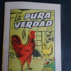 Libros antiguos: ANTIGUO CUENTO LA PURA VERDAD, TESORO DE CUENTOS BRUGUERA SERIE 18 Nº8, VER FOTOS. Lote 175936855