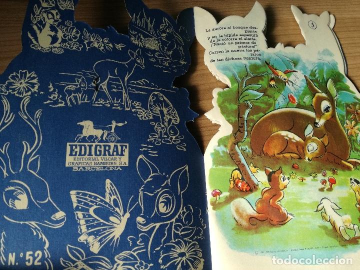 Libros antiguos: CUENTO TROQUELADO BAMBI DE WALT DISNEY AÑO 1963 LLEVA LA DIFICIL MARIPOSA - Foto 3 - 176266904