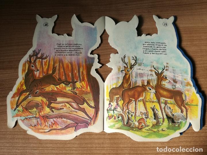 Libros antiguos: CUENTO TROQUELADO BAMBI DE WALT DISNEY AÑO 1963 LLEVA LA DIFICIL MARIPOSA - Foto 5 - 176266904