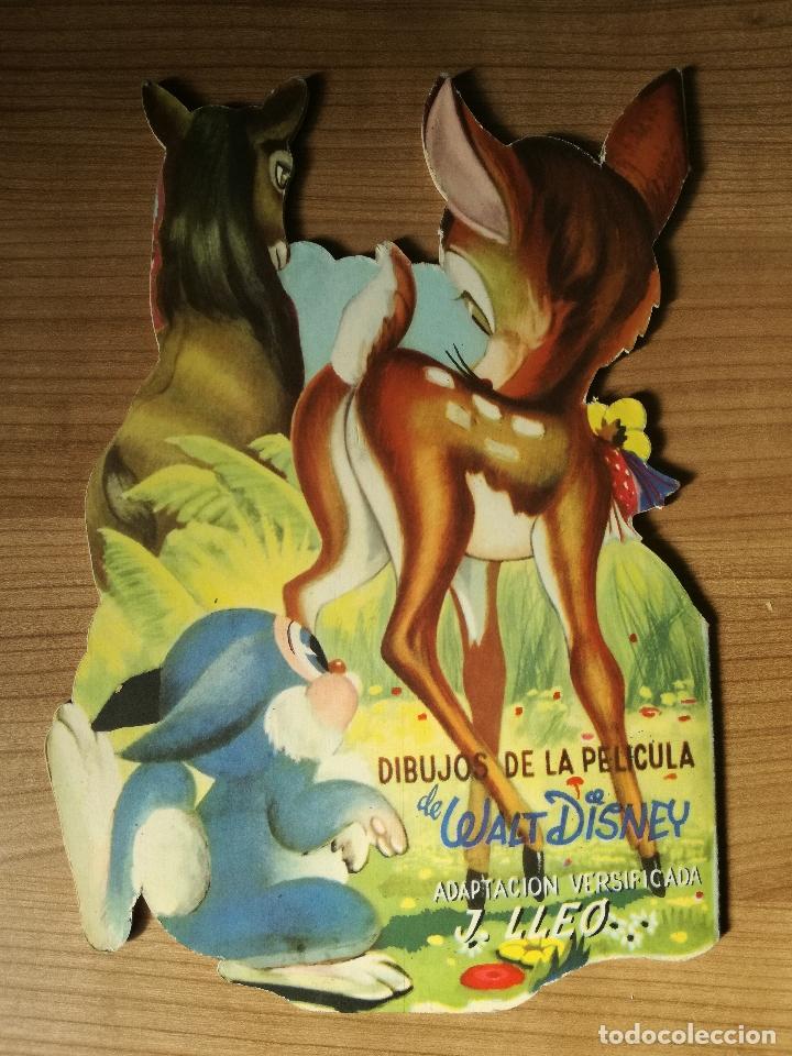 Libros antiguos: CUENTO TROQUELADO BAMBI DE WALT DISNEY AÑO 1963 LLEVA LA DIFICIL MARIPOSA - Foto 6 - 176266904