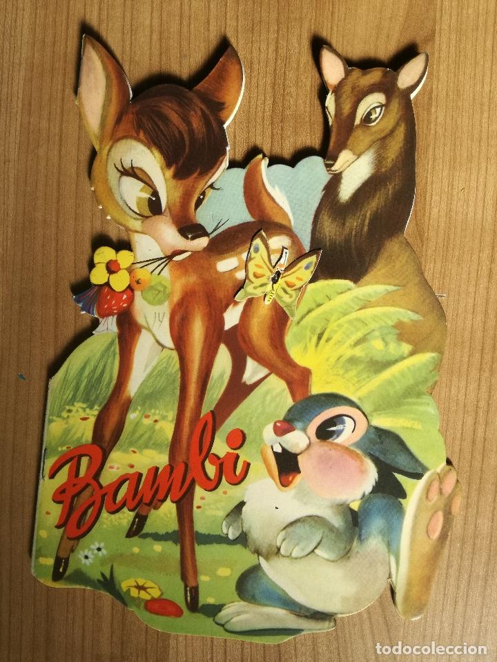 CUENTO TROQUELADO BAMBI DE WALT DISNEY AÑO 1963 LLEVA LA DIFICIL MARIPOSA (Libros Antiguos, Raros y Curiosos - Literatura Infantil y Juvenil - Cuentos)