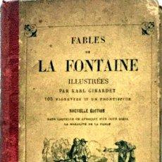 Libros antiguos: FÁBULAS DE LA FONTAINE EN FRANCÉS . Lote 176344734