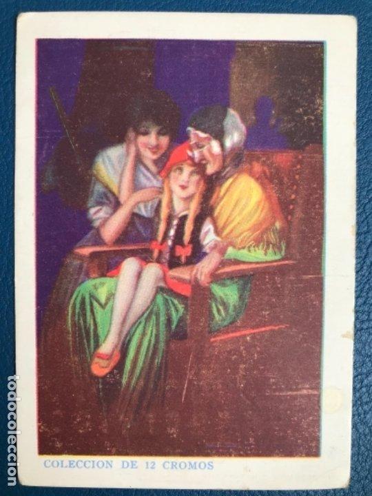 CAPERUCITA ROJA CROMO CUENTO COLOREADO XII CHOCOLATE NOGUEROLES GANDIA ALICANTE TURRONES PUBLICIDA (Libros Antiguos, Raros y Curiosos - Literatura Infantil y Juvenil - Cuentos)