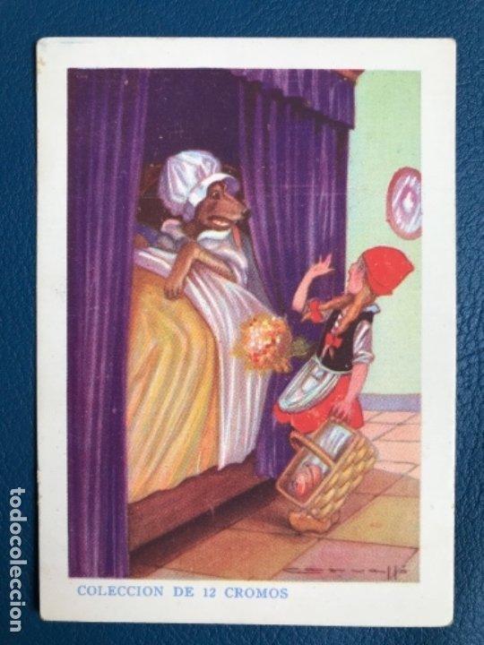CAPERUCITA ROJA CROMO CUENTO COLOREADO XI CHOCOLATE NOGUEROLES GANDIA ALICANTE TURRONES PUBLICIDA (Libros Antiguos, Raros y Curiosos - Literatura Infantil y Juvenil - Cuentos)