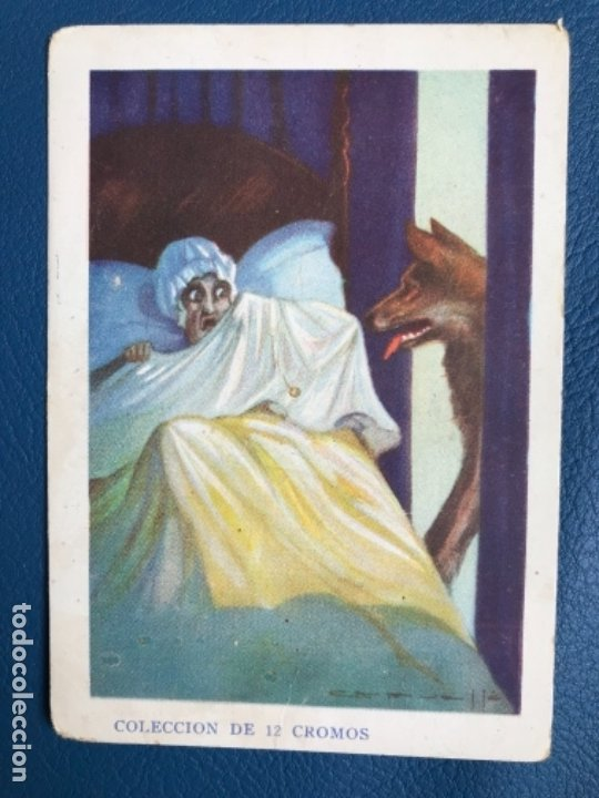 CAPERUCITA ROJA CROMO CUENTO COLOREADO VII CHOCOLATE NOGUEROLES GANDIA ALICANTE TURRONES PUBLICIDA (Libros Antiguos, Raros y Curiosos - Literatura Infantil y Juvenil - Cuentos)