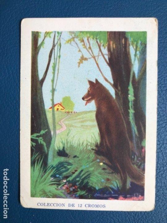 CAPERUCITA ROJA CROMO CUENTO COLOREADO VI CHOCOLATE NOGUEROLES GANDIA ALICANTE TURRONES PUBLICIDA (Libros Antiguos, Raros y Curiosos - Literatura Infantil y Juvenil - Cuentos)