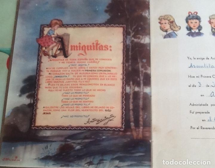 Libros antiguos: ANITA DIMINUTA, LA PRIMERA COMUNIÓN, DIBUJOS DE BLASCO, AÑOS 40 - Foto 3 - 176748115