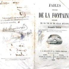 Libros antiguos: FABLES DE LA FONTAINE 1855. Lote 176767198