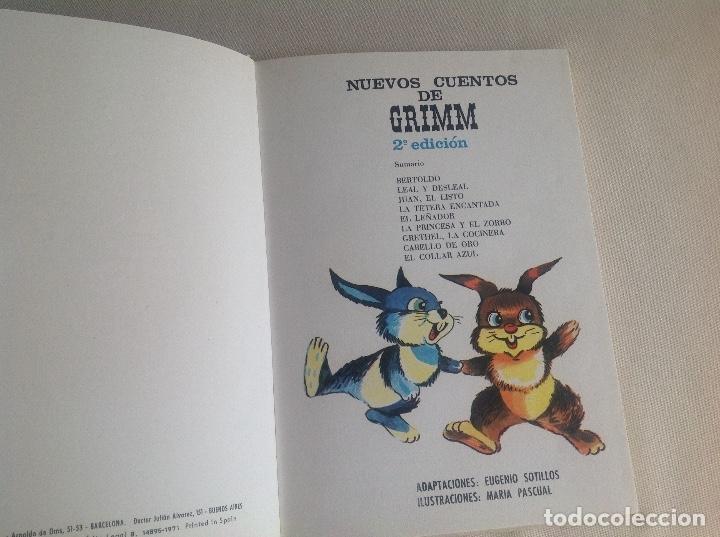 Libros antiguos: Nuevos cuentos de GRIMM ILUSTRACIONES MARÍA PASCUAL 1971 - Foto 6 - 177134547