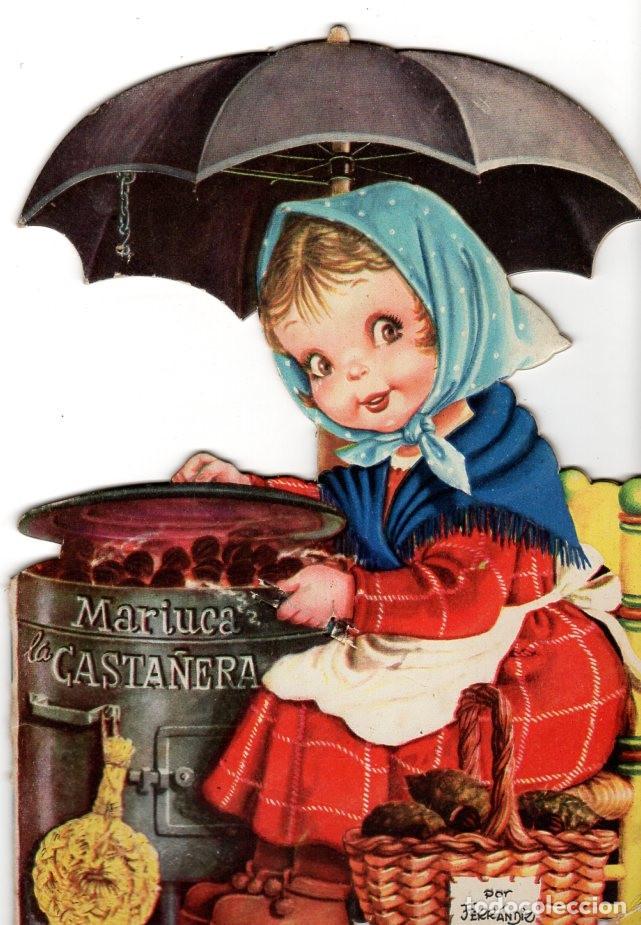 MARIUCA LA CASTAÑERA *** TEXTO Y DIBUJOS JUAN FERRÁNDIZ *** EDITORIAL VILCAR *** 1ª EDICIÓN (Libros Antiguos, Raros y Curiosos - Literatura Infantil y Juvenil - Cuentos)