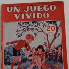 Libros antiguos: COLECCIÓN MARUJITA Nº 100 - UN JUEGO VIVIDO - EDITORIAL MOLINO 1936. Lote 177555818