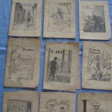 Libros antiguos: LOTE DE NUEVE EJEMPLARES DE LA COLECCIÓN PETITS CONTES DE PATUFET. Lote 178098288