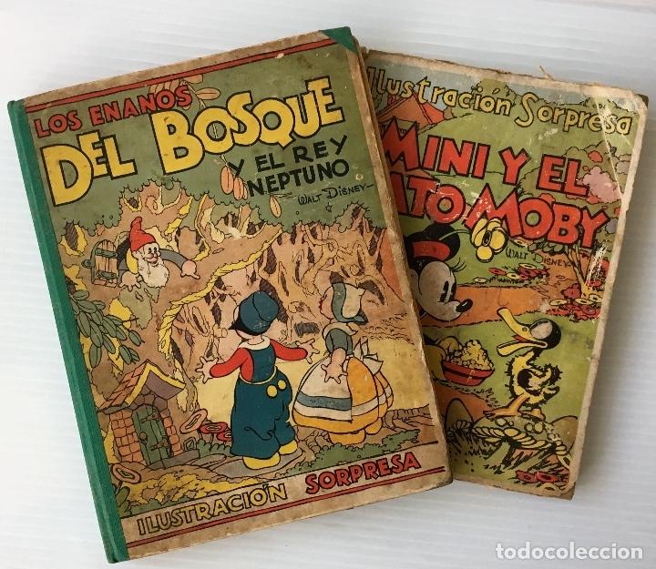 LOS ENANOS DEL BOSQUE Y EL REY NEPTUNO. WALT DISNEY. EDITORIAL MOLINO, 1935. (Libros Antiguos, Raros y Curiosos - Literatura Infantil y Juvenil - Cuentos)