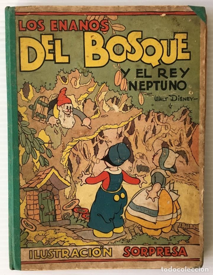 Libros antiguos: LOS ENANOS DEL BOSQUE Y EL REY NEPTUNO. WALT DISNEY. EDITORIAL MOLINO, 1935. - Foto 2 - 178325478