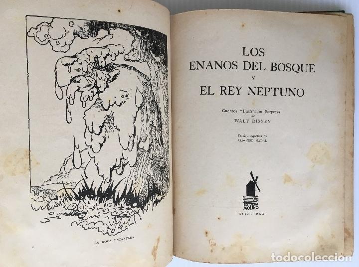 Libros antiguos: LOS ENANOS DEL BOSQUE Y EL REY NEPTUNO. WALT DISNEY. EDITORIAL MOLINO, 1935. - Foto 3 - 178325478
