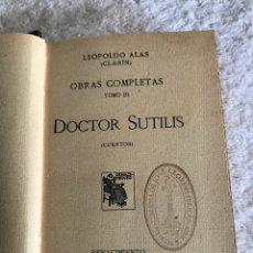 Libros antiguos: OBRAS COMPLETAS TOMO 3 - DOCTOR SUTILIS - CUENTOS - 1916. Lote 180327531