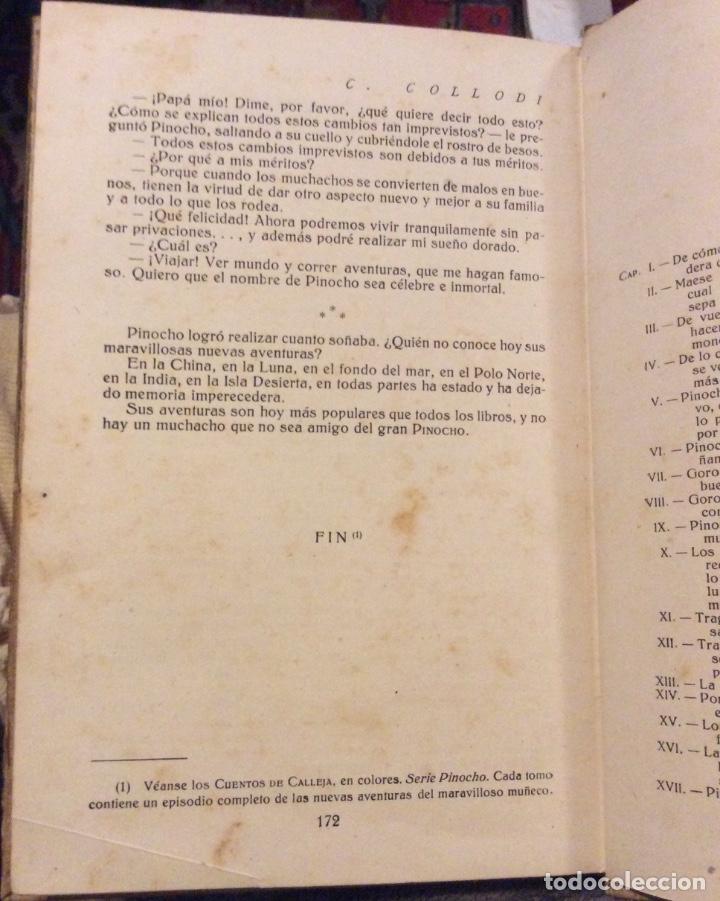 Libros antiguos: Aventuras de Pinocho - C. collado - casa editorial Calleja - Madrid- Biblioteca Enciclopédica - Foto 5 - 181803732