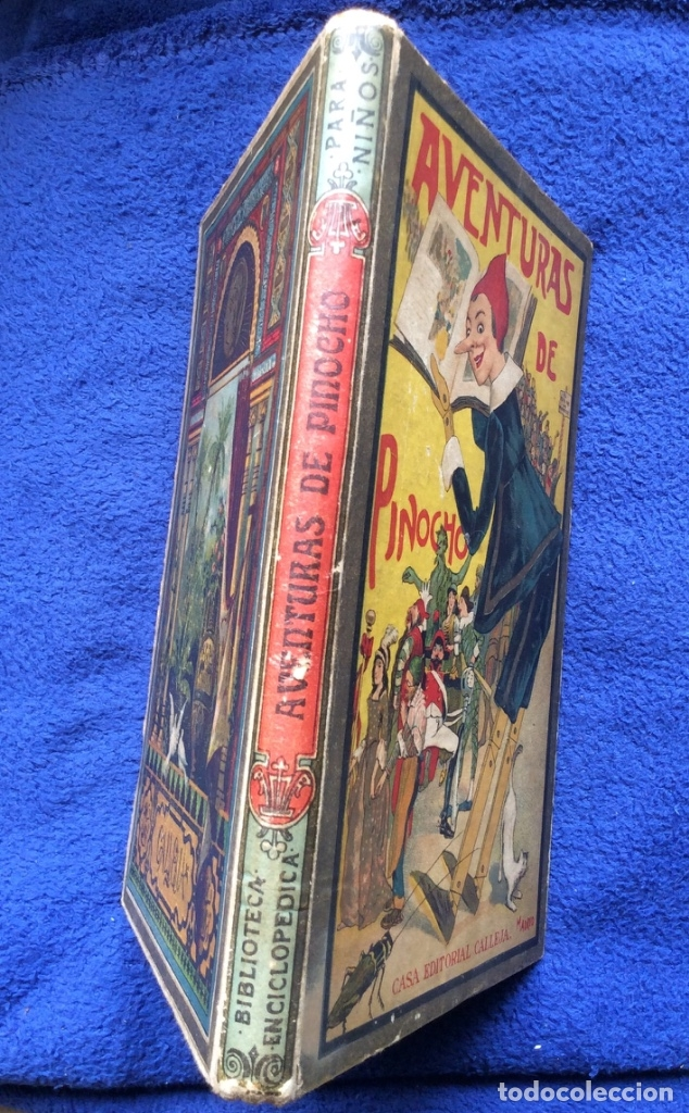 Libros antiguos: Aventuras de Pinocho - C. collado - casa editorial Calleja - Madrid- Biblioteca Enciclopédica - Foto 6 - 181803732