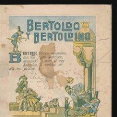 """Libros antiguos: BERTOLDO Y BERTOLDINO"""". Lote 182156291"""