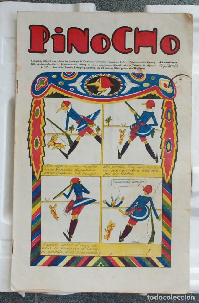 PINOCHO SEMANARIO INFANTIL ED. CALLEJA AÑO I Nº 22 19 DE JULIO DE 1925. (Libros Antiguos, Raros y Curiosos - Literatura Infantil y Juvenil - Cuentos)