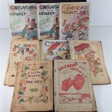 Libros antiguos: CALENDARI DEN PATUFET. 1930/1936. 8 EJEMPLARES. BARCELONA.. Lote 182965067