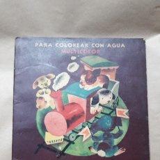 Libros antiguos: LOS TRES PERRITOS / PARA COLOREAR CON AGUA / ED. CODEX 1949. Lote 183041765