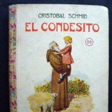 Libros antiguos: EL CONDESITO (CRISTOBAL SCHMID) Nº 55. AÑO 1934. BIBLIOTECA SELECTA RAMON SOPENA.. Lote 183909793