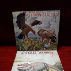 Libros antiguos: EL REINO ANIMAL PARA NIÑOS SOPENA : 1 Y 2 AVES Y ANIMALES DE CAZA - ANIMALES DAÑINOS. Lote 184092490