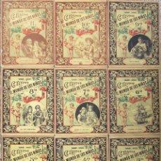 Libros antiguos: LOTE DE 9 CUENTOS DE EL MUNDO DE LOS NIÑOS. MADRID 1887. Nº 3, 4, 5, 6, 7, 8, 9,10,11. DECENAL ILUST. Lote 184093352