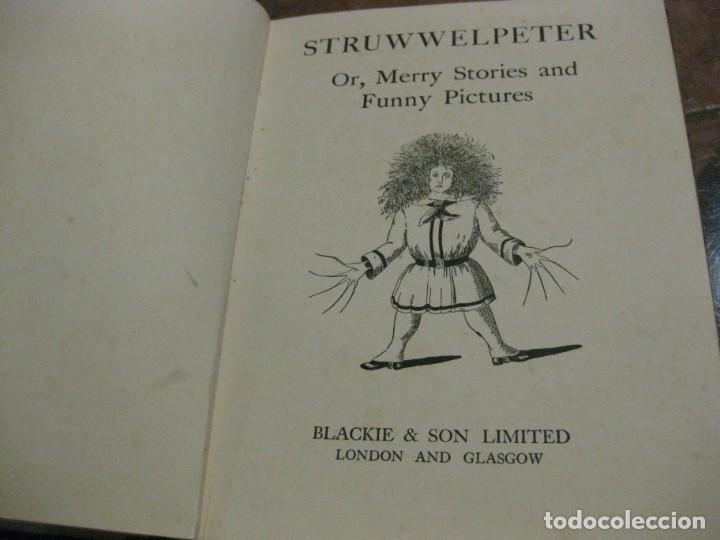 Libros antiguos: cuento tradicional struwwelpeter . merry stories funny pictures . ed blackie london. ingles - Foto 4 - 184399135