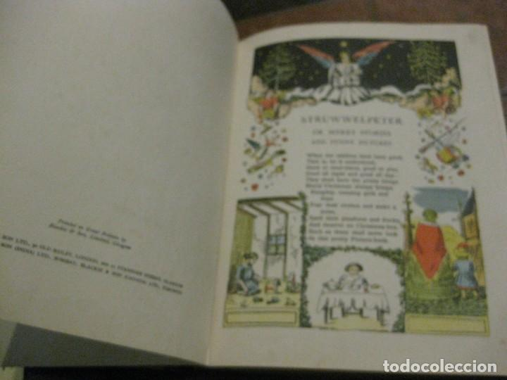 Libros antiguos: cuento tradicional struwwelpeter . merry stories funny pictures . ed blackie london. ingles - Foto 5 - 184399135